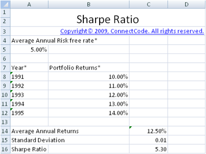 how to put individual standard deviation excel