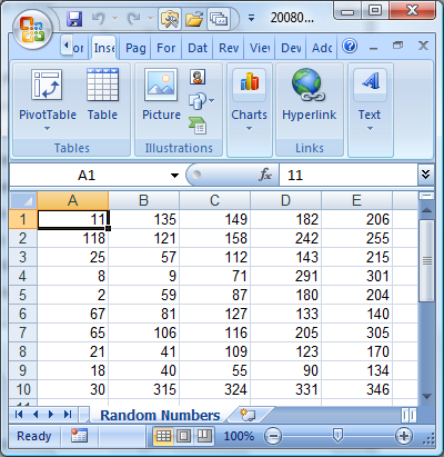 Business spreadsheets excel random number or date generator software