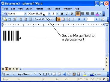 ms word barcode