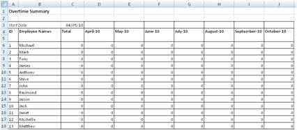 overtime summary worksheet
